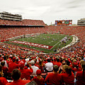 Wisconsin Badgers Play In Camp Randall Stadium by Relpay Photos