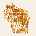 Wisconsin State Outline Word Map by Design Turnpike