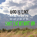 Wisdom Quote God Is Like Oxygen You Cant Live Without Him by Navin Joshi