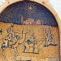 Wise Men Reaching Beit Sahour by Munir Alawi