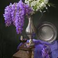 Wisteria And Allium Ursinum by Giovanni Allievi