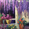 Wisteria Blooms by Sally Seago