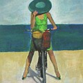 With Bike On The Beach by Vesna Antic