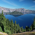 Wizard Island On Crater Lake by Frank Wilson