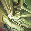 Wl1989dc004 New Dimension Of The Light 26 X 37.6 by Alfredo Da Silva