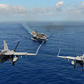 wo F A-18E Super Hornets by Celestial Images