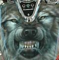 Wolf Motorcycle Gas Tank by Wayne Pruse