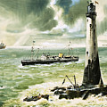 Wolf Rock Lighthouse At Land's End by Wilf Hardy
