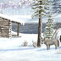 Wolfs In Winter by Don Lindemann