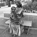 Woman And Child Sculpture Grand Junction Co by Tommy Anderson