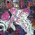Woman And Dog by Joyce Goldin