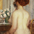 Woman At A Dressing Table by Frederick Carl Frieseke