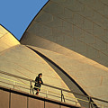 Woman At Sydney Opera House by Carl Purcell