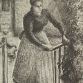 Woman At The Gate by Camille Pissarro