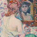 Woman At The Mirror  by Theo van Rysselberghe