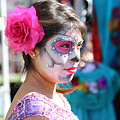 Woman Beautiful Day Of The Dead  by Chuck Kuhn