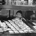 Woman Behind Fast Food Counter by Matt Plyler