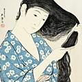 Woman Combing Her Hair Kami Sukeru Onna by Hashiguchi Goyo