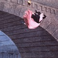 Woman Committing Suicide By Jumping Off Of A Bridge by MotionAge Designs