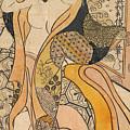 Woman Disrobing by Okumura Toshinobu