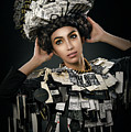 Woman Dressed In Price Tag by Erich Caparas