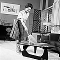 Woman Dusting, C.1950-60s by H. Armstrong Roberts/ClassicStock