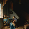 Woman Eating Porridge by Gerrit Dou