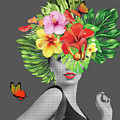 Woman Floral  by Mark Ashkenazi