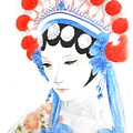 Woman From Chinese Opera With Tattoos -- The Original -- Asian Woman Portrait by Jayne Somogy