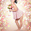 Woman Holding Flowers In Hands. Spring Celebration by Jorgo Photography - Wall Art Gallery