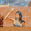 Woman Holding The Sands Of Time by Ann Johndro-Collins