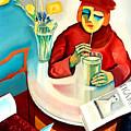 Woman In A Cafe by Bo von Zweigbergk