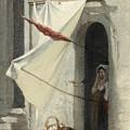 Woman In A Doorway. Rome by Carl Rauch