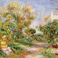 Woman In A Landscape by Renoir