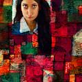 Woman In Abstract 454 by Maciej Mackiewicz