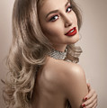 Woman In Big Curls Hollywood Glam Look by Erich Caparas