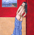 Woman In Blue Robe by Adam Johnson