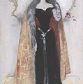 Woman In Evening Clothes And Cape by Dudley Hardy