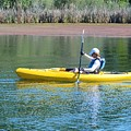 Woman In Kayak by Josephine Buschman