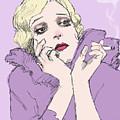 Woman In Lavender by H James Hoff