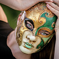 Woman In Mask by Lisa Lemmons-Powers