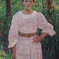 Woman In Pink Dress by Cabot Perry