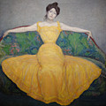 Woman In A Yellow Dress by Max Kurzweil