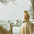 Woman In Snow Scene by Amanda Elwell
