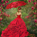 Woman In The Rose Gown by Carol Cavalaris