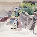 Woman Of The Rocks by Linda Berkowitz