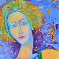 Woman Oil Portrait  by Magdalena Walulik
