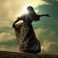 Woman On A Meadow by Joana Kruse