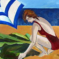 Woman On The Beach by Betty Pieper