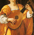Woman Playing A Lute by MotionAge Designs